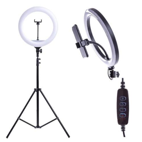 Кольцевая светодиодная лампа со штативом 26 см