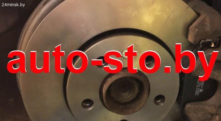 Проточка задних и передних тормозных дисков VW