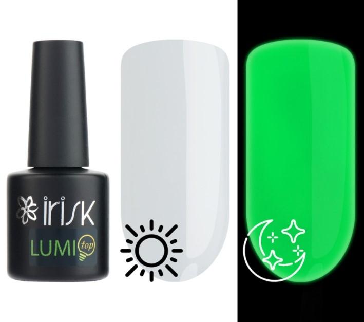 Топ люминесцентный без липкого слоя LUMI Top Irisk, 10мл (01