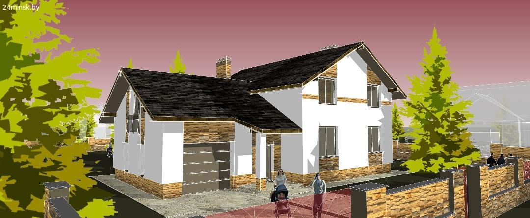 заказать архитектурный проект дома, эскизный, строительный