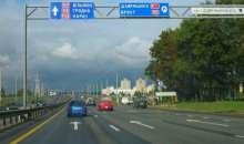 В двух местах МКАД ограничивают движение транспорта