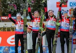 Динара Алимбекова победила в спринте на этапе Кубка мира