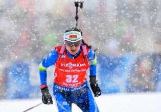 Биатлонистки заняли 12-е место в эстафете
